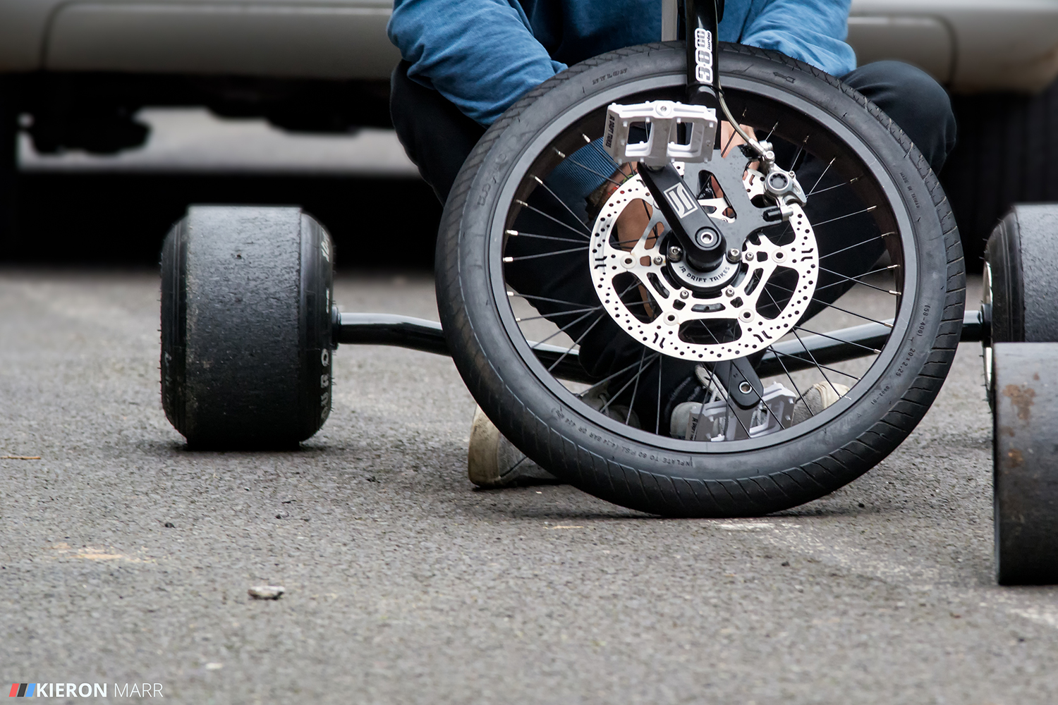 Drift trike front wheel