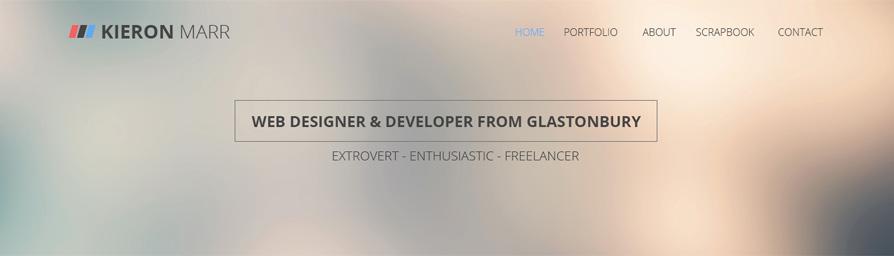 Portfolio v2  -header
