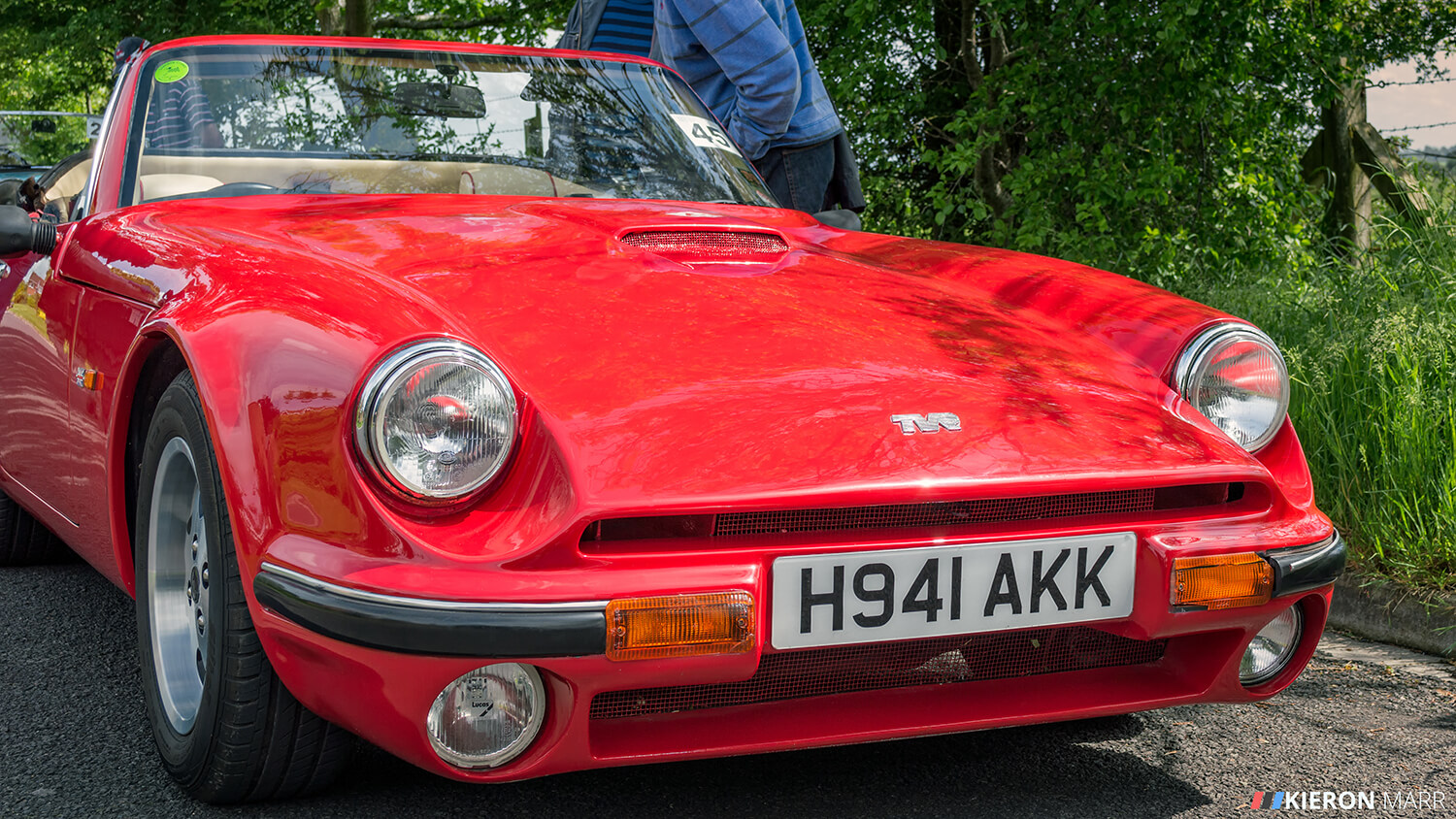 Convertible Red TVR